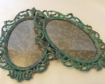 Ornate oval frames,frame set,painted frames,oval frame,picture frame,photo frame,patina frame,collage,vintage frame,wall frames