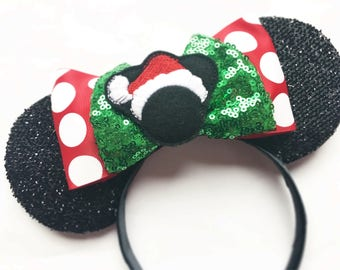 Santa Mickey inspired Mouse Ears