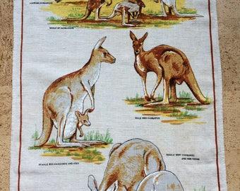 Kangaroo Linen Tea Towel