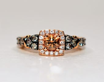 40% OFF SALE with free resizing!! Mind Blowing 1.10tcw Chocolate Diamond 14kt Rose Gold Ring