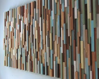 Merveilleux Wood Wall Art  Modern Wood Wall Art  Reclaimed Wood Wall Art