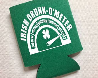 Irish Drunk-O-Meter Funny St. Patrick's Day Can Cooler - St. Paddy's Day, Gift, Irish