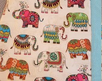 "elephant nursery quilt, elephant baby blanket, elephant crib blanket, ""RAINBOW OF ELEPHANTS"" crib quilt, gender neutral elephant quilt"