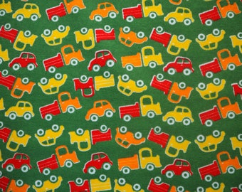 Myllymuksut terry cloth / stretch frotte car print childrens fabric - Finnish design Scandinavian
