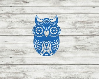 Owl Sugar Skull Decal | Sticker | Yeti | RTIC | Owl