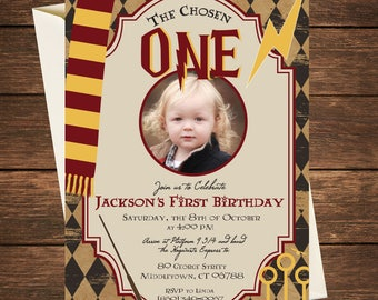 Harry Potter Birthday Invitation, Harry Potter First Birthday, Harry Potter Birthday, Harry Potter Invitation, Harry Potter Party