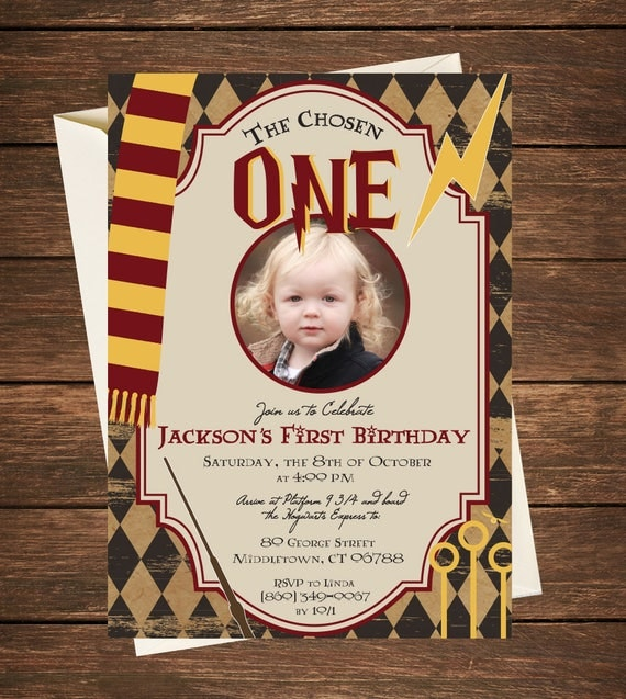 Harry Potter Birthday Invitation Harry Potter First Birthday – Harry Potter Birthday Invitation