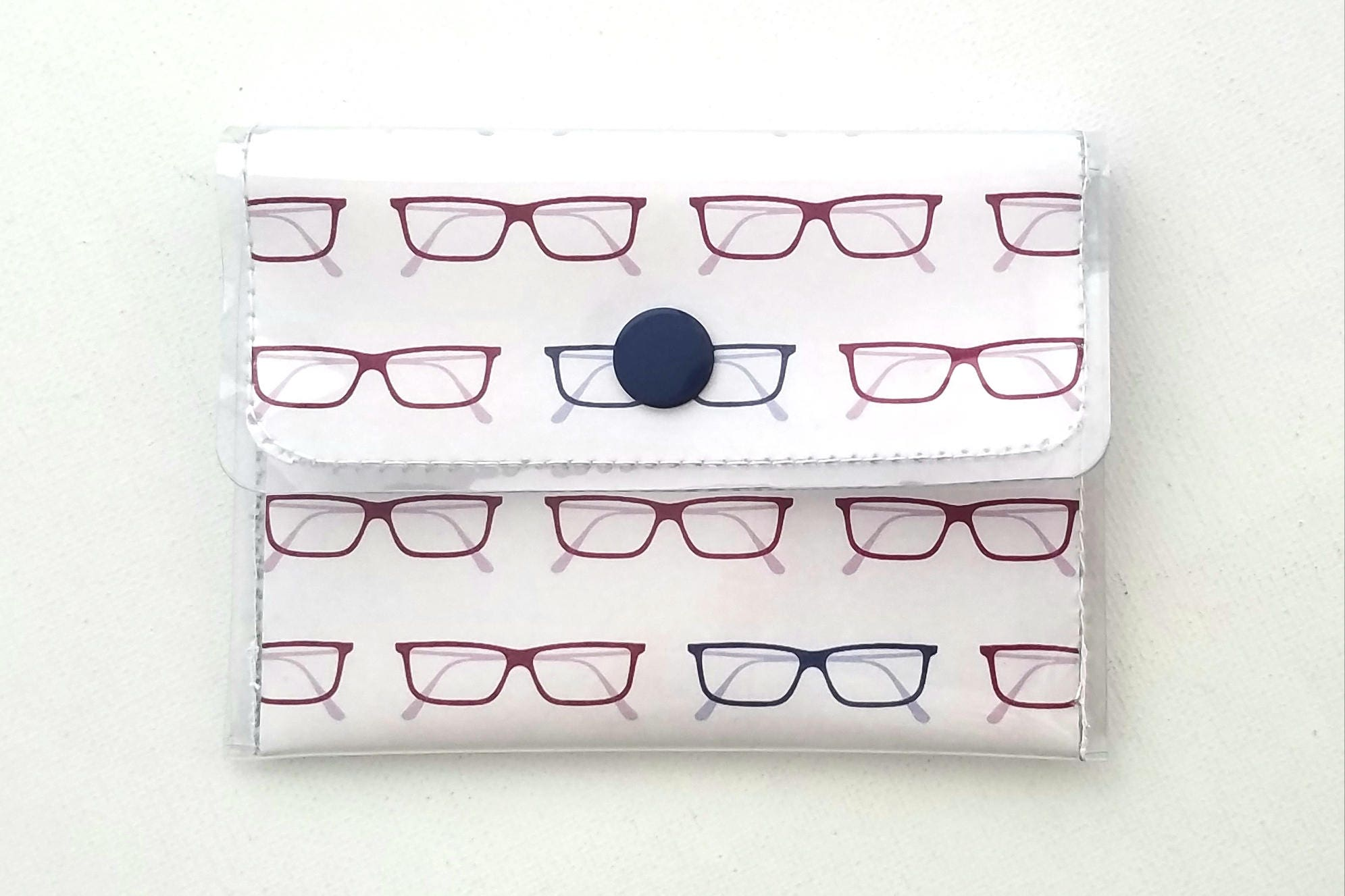 librarian wallet cash card vinyl eyeglasses walla wallat