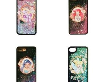 Glitter princess phonecase