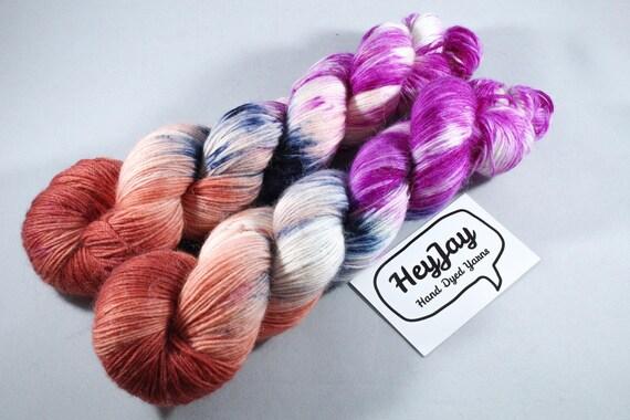 Hand Dyed Alpace/Merino/Nylon Sock Yarn - Sprinkles