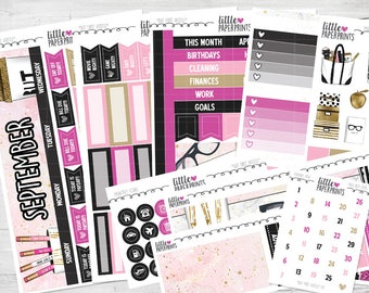 "SEPTEMBER MONTHLY VIEW | ""But First, Hustle"" Glossy Kit 
