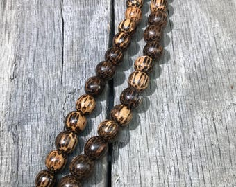 Wood Multi Brown beads 10mm