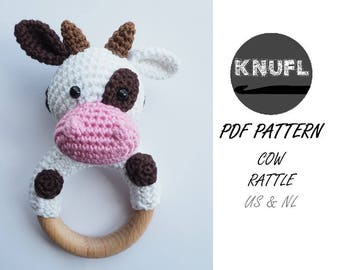 CROCHET PATTERN rattle cow