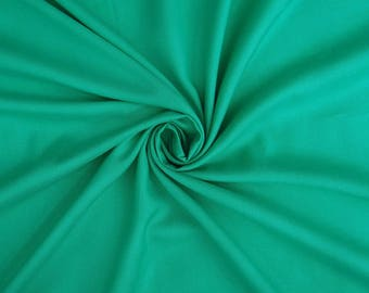 "Teal Green Rayon Fabric, Summer Fabric, Sewing Crafts, Ethnic Fabric, 40"" Inch Quilting Fabric By The Yard PZBR3L"