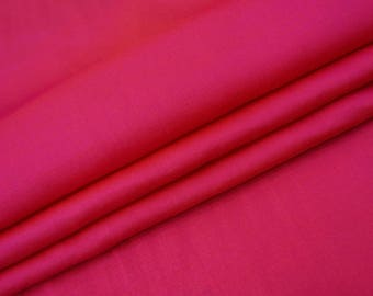 """Dress Material, Magenta Faux Silk Fabric, Home Decoration, Sewing Crafts Accessories, 44"""" Inch Fabric By The Yard PZS2B"""