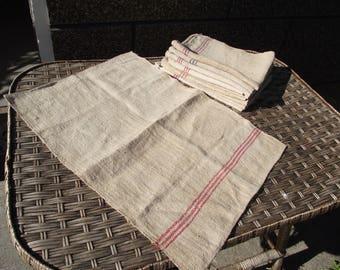 Antique vintage Romanian Hungarian Russian Ukrainian handwoven Homemade hemp towel Organic health products Natural HEMP towel gift
