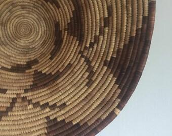 Large Native American | Pima Basket | Circa 1920 | Woven | Wall Hanging | Boho Chic | Southwestern | Mission | Antique | Vintage