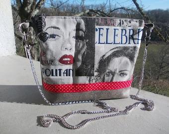 shoulder bag with chain shoulder strap