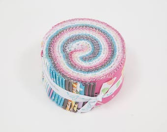 SALE Ballerina Bows 2.5 Inch Rolie Polie Jelly Roll 40 pieces Riley Blake Designs - Precut Pre cut Bundle Dancing - Quilting Cotton Fabric