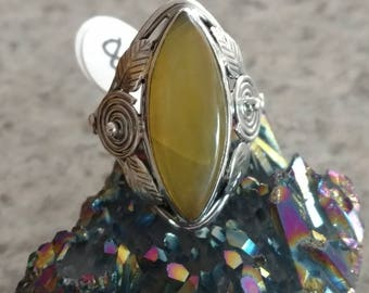 Golden Sun Opal Ring Size 8