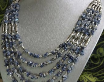 Five Strand Sodalite Necklace