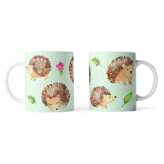 Cute hedgehogs everywhere mug - Funny mug - Rude mug - Mug cup 4P106