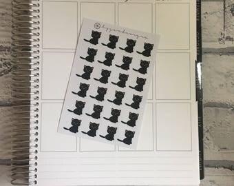 MINI Black Cat Decorative Stickers - Planner Stickers, for use in EC LIFEPLANNER, diaries, journals, TNs, Traveler's Notebooks, calendars
