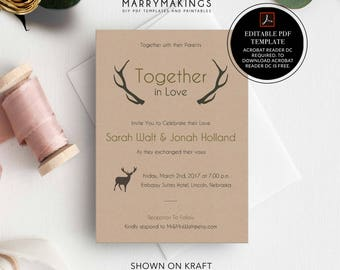 Diy wedding template, invitation, wedding template, invitation template, wedding invitation, printable invitation, printable wedding, 02