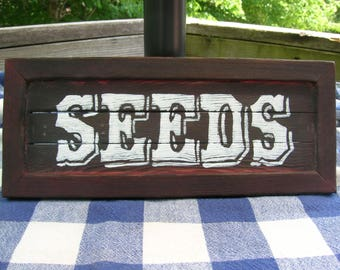 Seeds Wooden Sign - Wall Hanging, Kitchen, Dining, Garden, Porch
