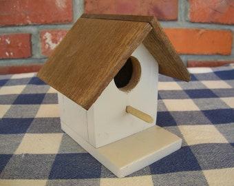 Birdhouse - Light Beige, Decorative - Indoor, Outdoor, Garden, Porch, Patio, Shelf Decoration