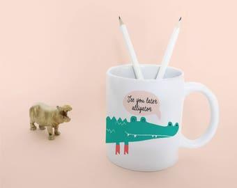 see you later alligator mug | tea cup | crocodile coffeecup | in giftbox