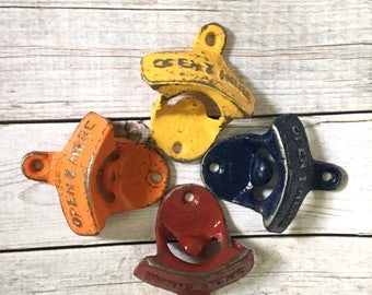 ON SALE Cast Iron Bottle Opener - Fathers Day Gift - Groomsmen Gift - Wall Mounted Beer Opener - Rustic Kitchen Wall Decor - Outdoor Patio B