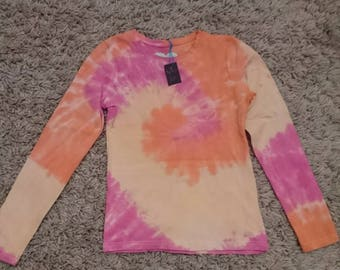 Girls long sleeve tie dye tshirt