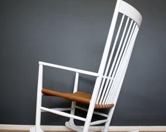 SOLD: Hans Wegner J16 Danish Mid Century Rocking Chair Retro Vintage 50s 60s 70s