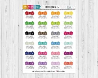 Change your Contacts Planner Stickers   Change Contacts   17238-01