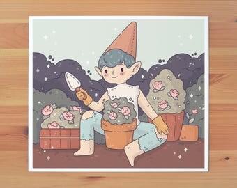 Gnome Boy Print *TWO SIZES*
