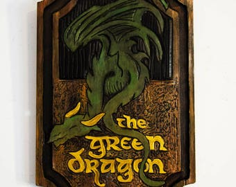 Small Green Dragon Sign