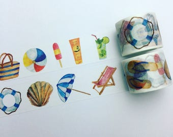 Summer holiday washi tape