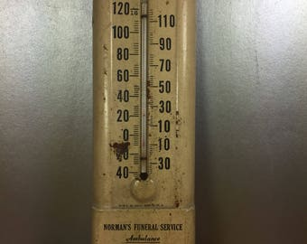 Metal Advertising Thermometer