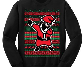 Dabbing Santa Ugly Christmas Sweater Holiday Sweatshirt dabbing santa sweater