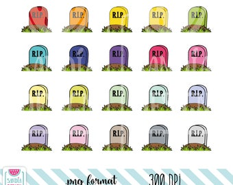 Doodle Tomb Clipart. Personal and comercial use.
