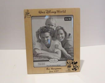 Walt Disney World 5x7 or 8x10 (Your Choice) Picture Frame Disney Honeymoon Picture Frame Disney Picture Frame Disney Bride and Groom Frame