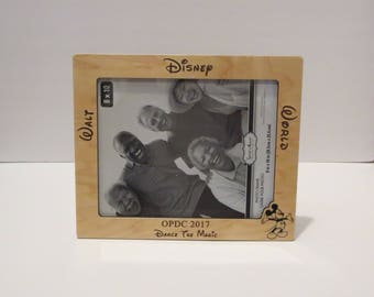 walt disney world 5x7 or 8x10 your choice picture frame personalized family frame family - Disney World Picture Frames