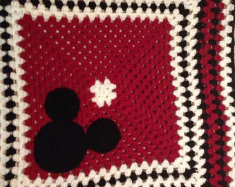 Mickey Mouse Crochet Baby Blanket