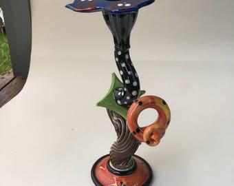 colourful ceramic candlestick