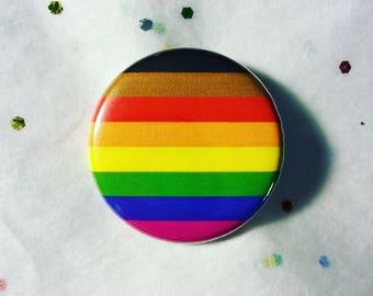 Inclusive pride rainbow flag button