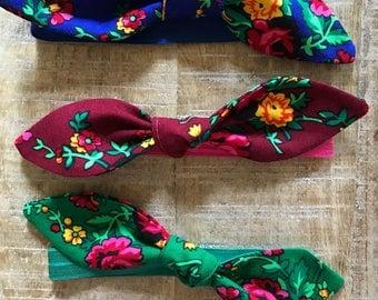 Set of 3 Boho baby headbands