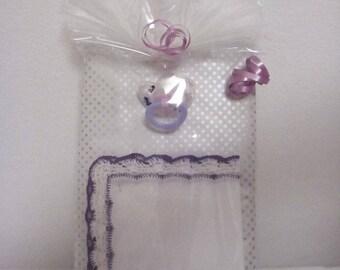 Vintage, Handkerchiefs, wedding handkerchiefs, baby handkerchiefs, gift, lace handkerchief, crocheted handkerchief, pacifier