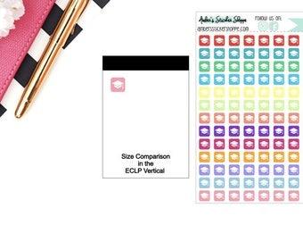 Multicolored or Black Mini Student Loan Icon Planner Stickers