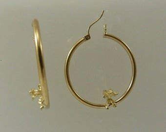 Hoop Angle Earring 14k Yellow Gold